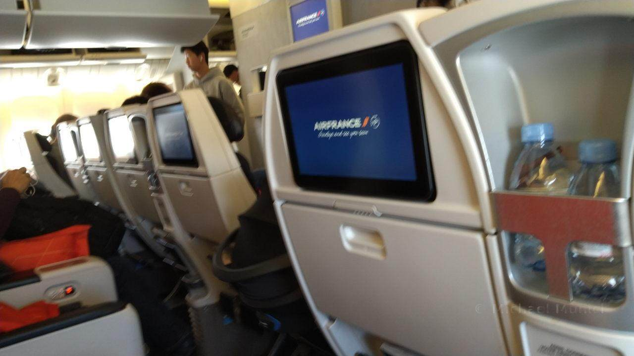 Premium Economy Class in der Boeing 777