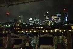 Sydney bei Nacht von Wolloomooloo aus