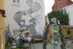 Kunstatelier in einem Innenhof
