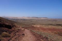 Ein Blick nach Lajares von noch weiter oben