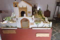 Miniaturmodelle neben dem Eingang