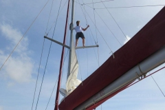 Unser Skipper José kann auch klettern