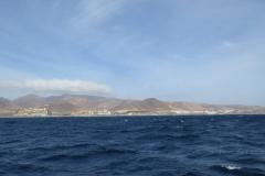 Blick auf die Küste von Jandia Playa in Richtung Playa Esquinzo