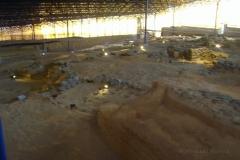 In der Ausgrabungsstätte