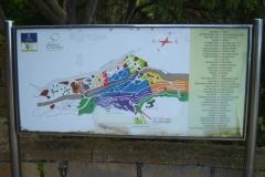 Karte vom botanischen Garten