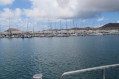Einfahrt in den Hafen von Caleta del Sebo