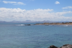 Der Nordwesten von Lazarote von La Graciosa aus gesehen