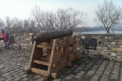 Kanone auf der Stadtmauer