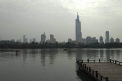 Xuanwu See, Blick auf die Stadtsilhouette
