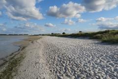 An der Ostseeküste mit Blick Richtung Hafen