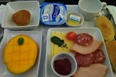 Das Frühstück beim Rückflug