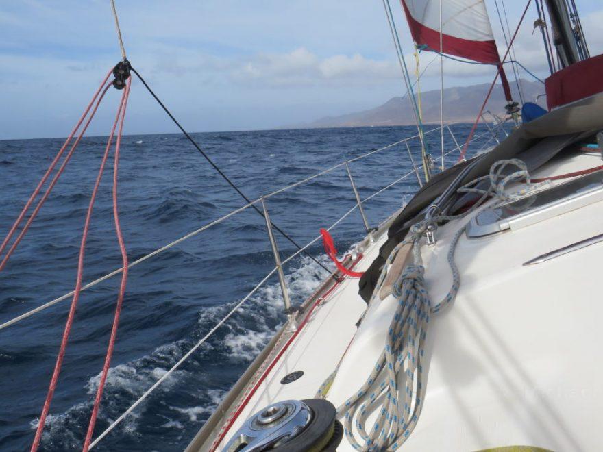 Segeln an der Küste von Morro Jable