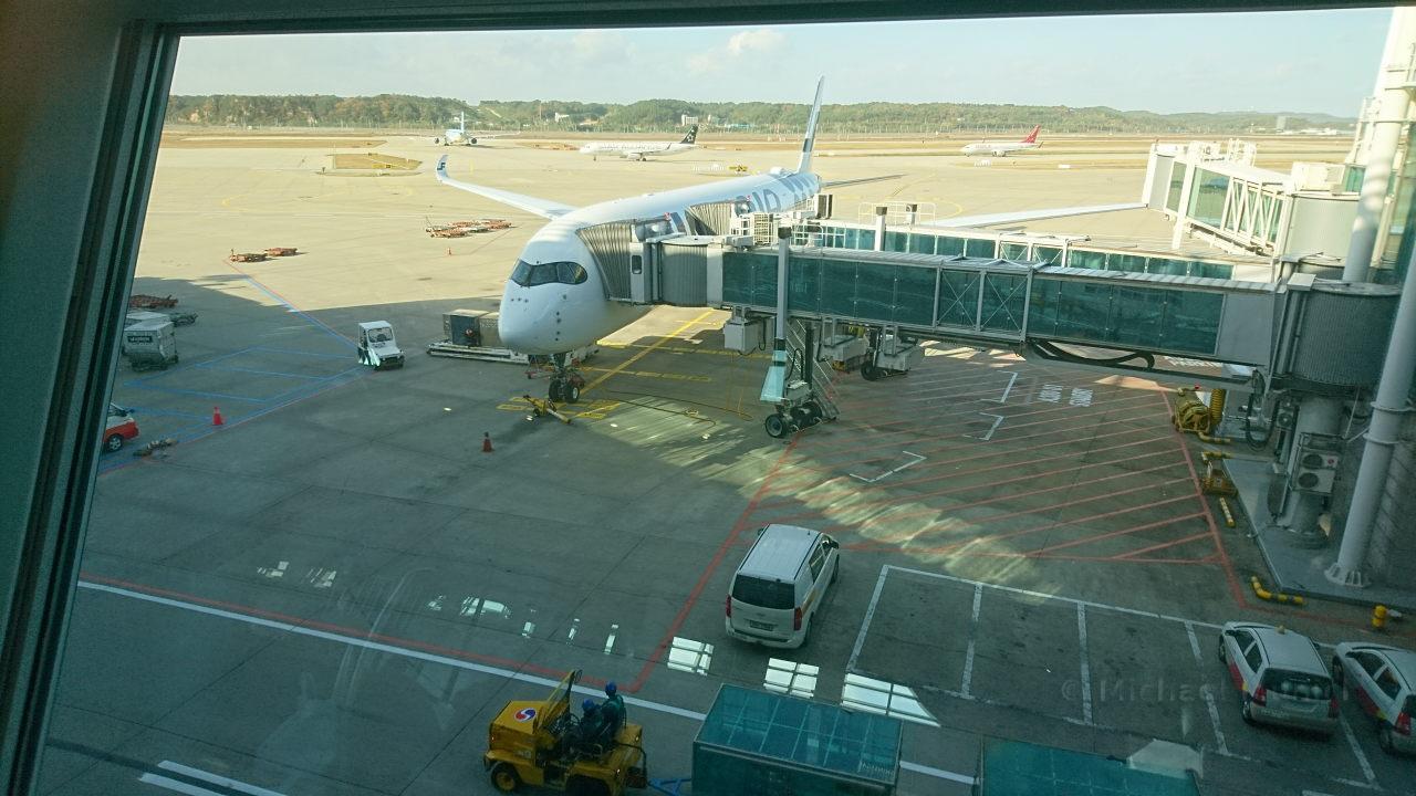 Der A350 vor dem Start am Flughafen Seoul Incheon